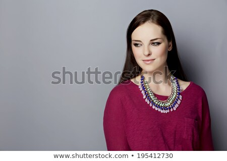 Mulher colar beleza jóias bela mulher Foto stock © dolgachov