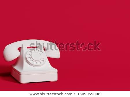 Stock fotó: 3D · retro · telefon · semmi · jobb · hívás