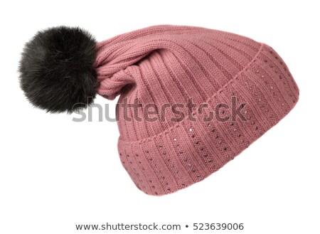 Beautiful woman in a woollen cap Stock photo © stryjek