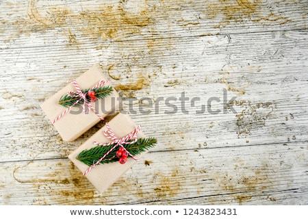 árbol · de · navidad · papel · rasgado · espacio · fondo · marco · invierno - foto stock © oly5