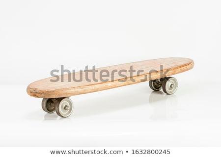 старые используемый скейтборде древесины спорт Сток-фото © pterwort