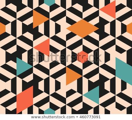 Abstract meetkundig kleurrijk textuur ontwerp vector Stockfoto © bharat