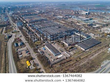 Industrial alta tensão metal pipes inverno Foto stock © cherezoff