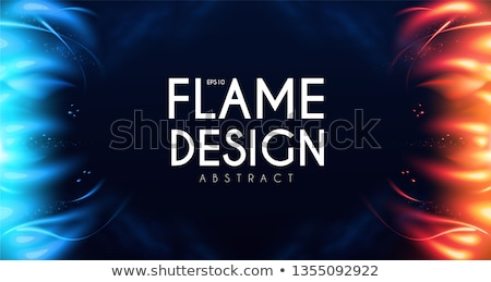Ijs brand textuur warm achtergrond koud Stockfoto © Mps197