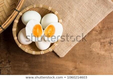Sózott kínai kacsa tojás közelkép tojások Stock fotó © zkruger