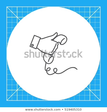 Silhouette of a hand holding a telephone receiver Stock photo © gemenacom