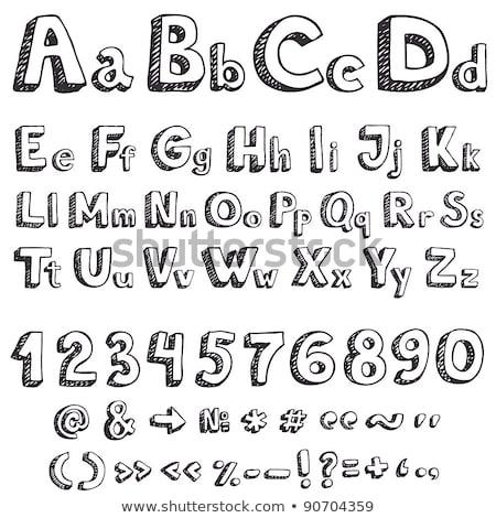 フォント スケッチ 手 図面 文字 芸術 ストックフォト © kiddaikiddee
