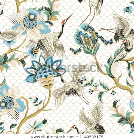 the fabric embroidered with oriental ornaments Stock photo © Mikko