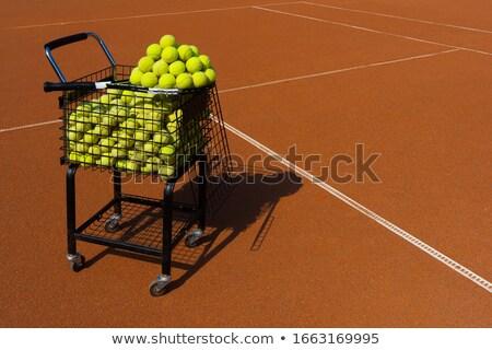 ピラミッド テニス 孤立した 白 ボール ストックフォト © gemenacom