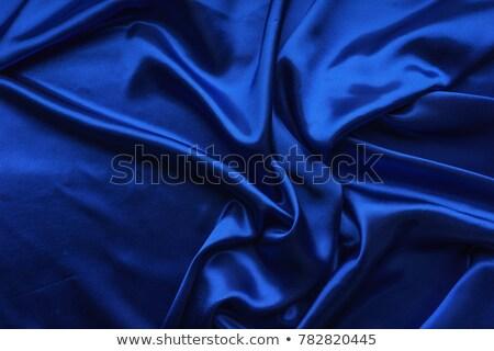Kék szövet fényűző mély összehajtva művészet Stock fotó © Supertrooper
