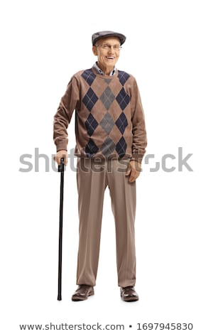 old man posing to camera full length stock photo © stockyimages