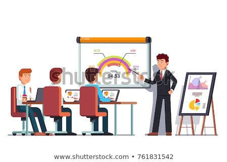 Businessman showing chart in presentation Stock photo © orensila
