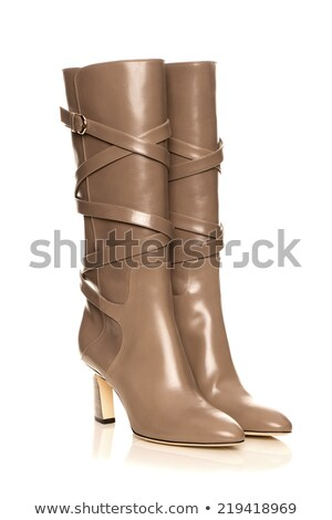 Female legs in high brown leather boots  Stock photo © dashapetrenko