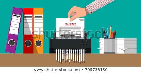 Paper Shredder Machine Vector Illustration Stock photo © Voysla