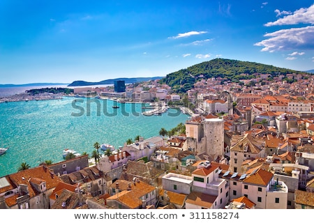 Croatie belle paysage port ciel ville Photo stock © Nneirda