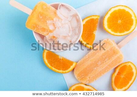 Сток-фото: домашний · оранжевый · заморожены · свежие · апельсинов · продовольствие
