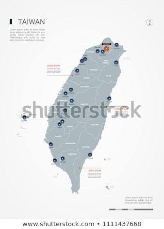 Narancs gomb kép térképek Tajvan űrlap Stock fotó © mayboro