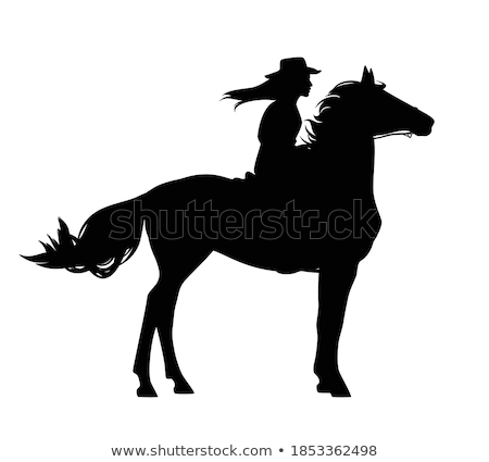 Woman cowgirl isolated on the white Stock photo © Elnur