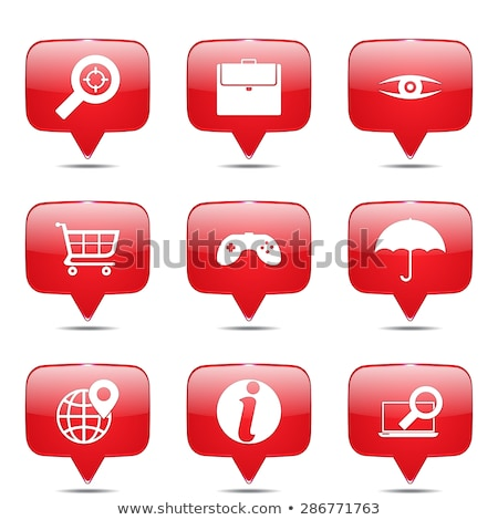 seo internet sign square vector red icon design set 10 stock photo © rizwanali3d