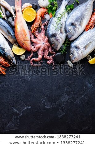 Raw Fish Background Stock photo © zhekos