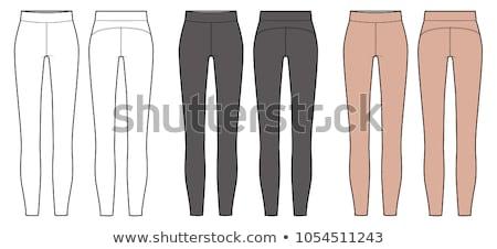 Jas leggings slank jonge roemeense vrouw Stockfoto © disorderly