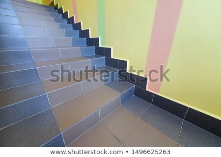 staircase with patterned ceramic tiles stock photo © master1305