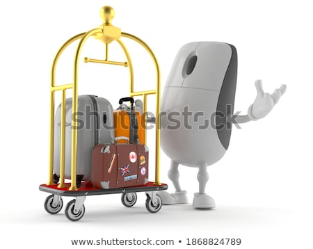 Gepäck Zeile Flughafen Warenkorb niemand Stock foto © alex_l