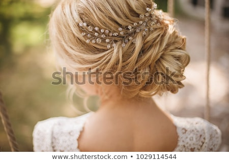 Beautiful lovely woman with flower hair accessory Stock photo © vlad_star