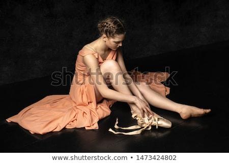 балерины · сидят · полу · привлекательный · балет · класс - Сток-фото © deandrobot