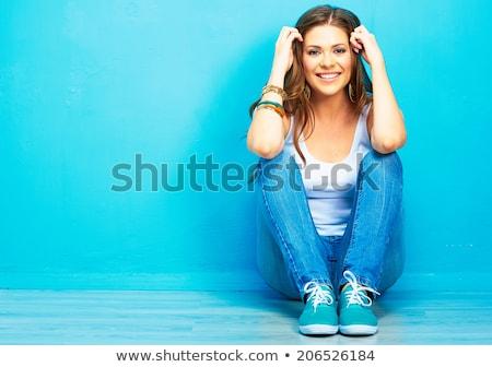 belleza · adolescente · maquillaje · peinado · pelo - foto stock © neonshot