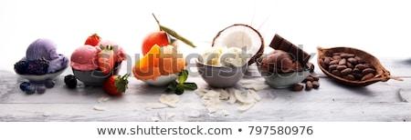 kepçe · beyaz · yoğurt · dondurma · kremsi · tatlı - stok fotoğraf © digifoodstock