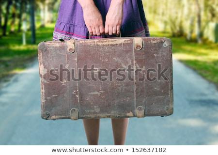 зеленый · чемодан · закрыто · белый · отпуск - Сток-фото © nobilior