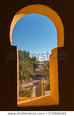 A window with a view of the desert Stock photo © bluering