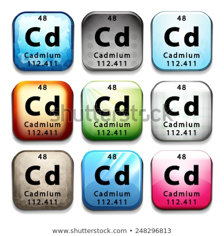 An icon showing the element Cadmium Stock photo © bluering