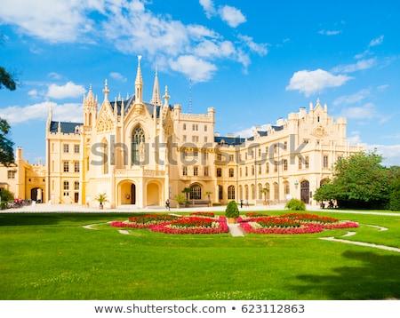 garden of lednice palace czech republic stock photo © phbcz