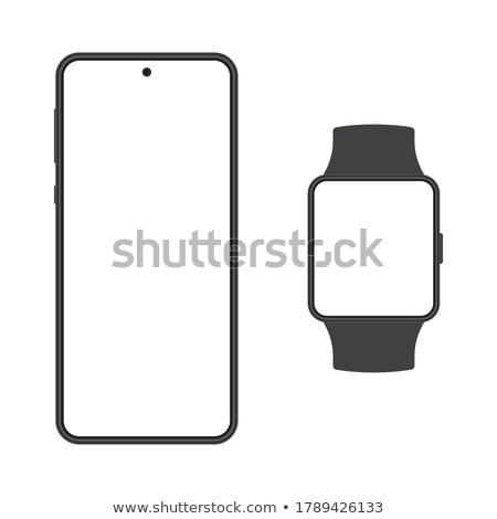Blanco pantalla negro 3d tecnología fondo Foto stock © make
