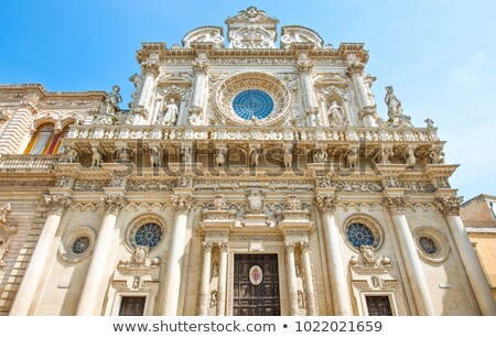 Basilica di Santa Croce of Lecce. Puglia, Italy. Stock photo © Photooiasson