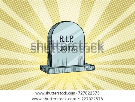 墓石 碑文 新しい 年 クリスマス ストックフォト © studiostoks