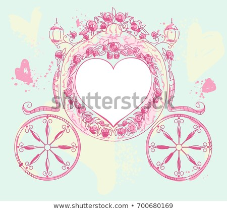 bağbozumu · kart · güller · biçim · kalp · çiçek - stok fotoğraf © orensila