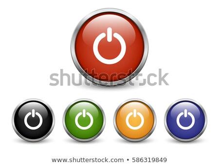 Set gloss pulsante switch tridimensionale icona Foto d'archivio © -TAlex-