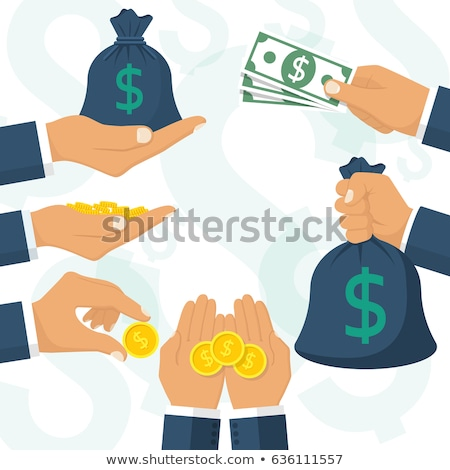 Business man with handful of coins Stock photo © IS2