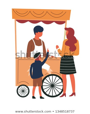 Children buying drinks at the store Stock photo © bluering
