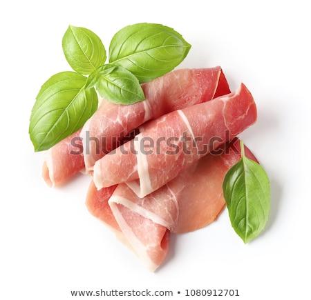 Dun ham vlees roze witte achtergrond Stockfoto © Digifoodstock