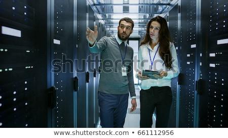 Technikus dolgozik szerver szoba gyönyörű számítógép Stock fotó © wavebreak_media
