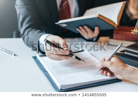 破産 契約 ペン ビジネス ストックフォト © devon