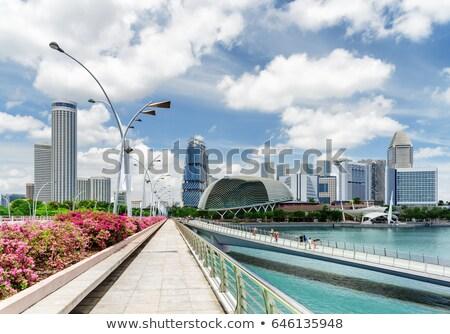 Híd Szingapúr folyó Stock fotó © IS2