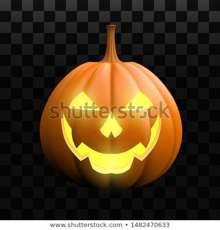 ハロウィン カボチャ ゴースト 鬼 キャンドル 3次元の図 ストックフォト © Wetzkaz