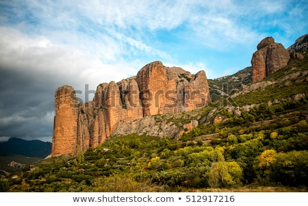 Mallos de Riglos in Aragon Stock photo © LianeM