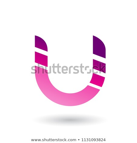 Magenta listrado ícone carta vetor ilustração Foto stock © cidepix