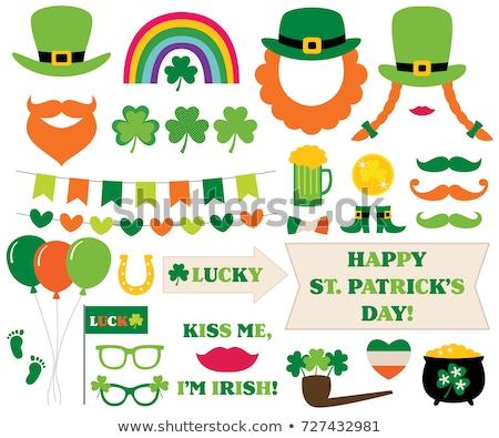 bril · bier · St · Patrick's · Day · partij · vakantie · viering - stockfoto © dolgachov